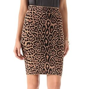 BCBGMaxAzria Skirts - BCBG knee length leopard skirt
